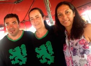 Archi López y Belén, propietarios de la Pulpería Archi junto a nuestra Directora Gabriela Urquiza Iglesias